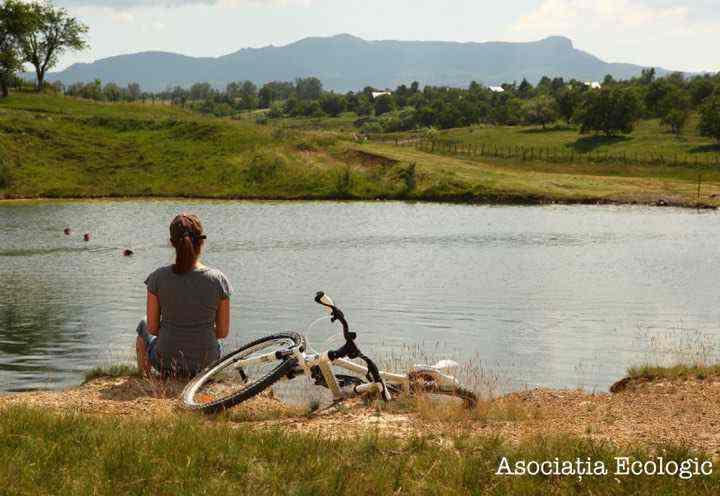 bicicleta pe lac